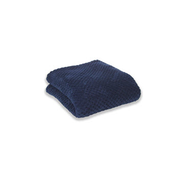Apartmento Diamond Fleece Blanket Indigo Single