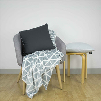 Ardor Lucienne Plush Blanket Grey 203 x 228cm
