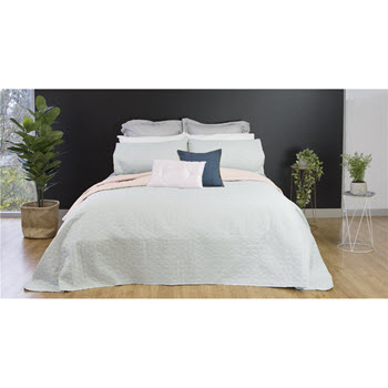 Ardor Boudoir Nottingham Reversible Coverlet Set Blue/Pink