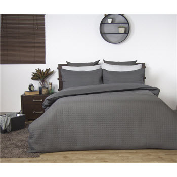 Ardor Boudoir Quilted Quilt Cover Set Charcoal King