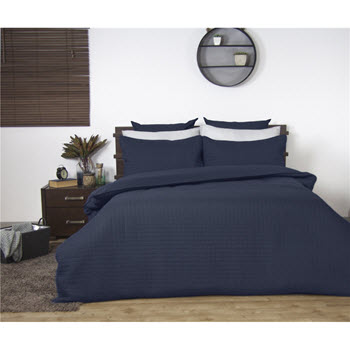 Ardor Boudoir Quilted Quilt Cover Set Navy King