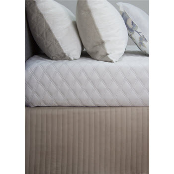 Ardor Boudoir Quilted Valance Queen Stone
