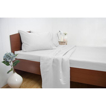Ardor 1500TC Cotton Rich Sheet Set White Queen