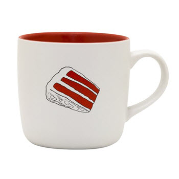 RECIPease 460ml Red Velvet Cake Recipe Mug
