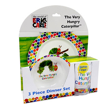 Very Hungry Caterpillar 3 Piece Dinner Set