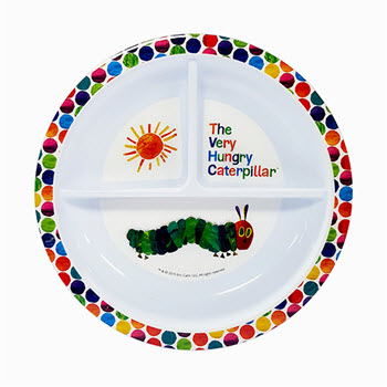 Very Hungry Caterpillar 19cm Section Plate