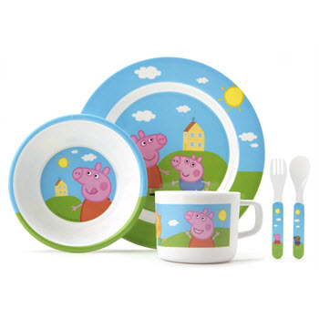 Peppa Pig 5 Piece Dinner Set