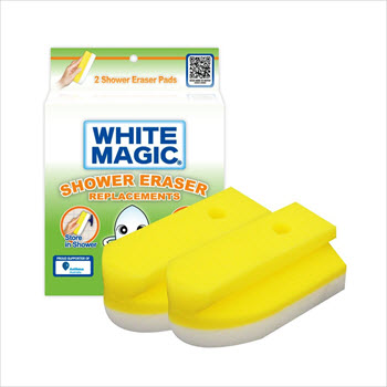 White Magic 2 Pack Shower Eraser Refill
