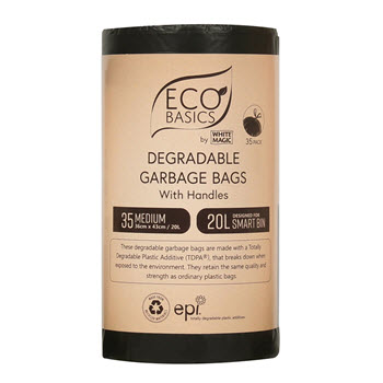 White Magic Eco Basics Garbage Bags Medium
