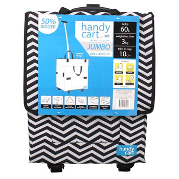 White Magic Handy Jumbo Cart Midnight Chevron