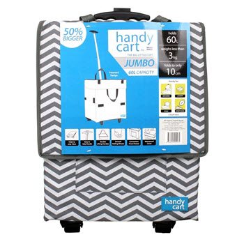 White Magic Handy Jumbo Cart Platinum Chevron
