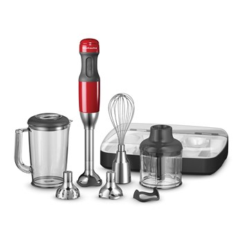KitchenAid Deluxe Hand Blender Empire Red