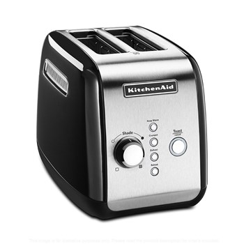 KitchenAid Classic Stainless Steel 2 Slice Toaster 35 x 25.4 x 26cm Onyx Black