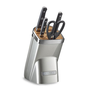 KitchenAid Sugar Pearl 5 Piece Knife Block