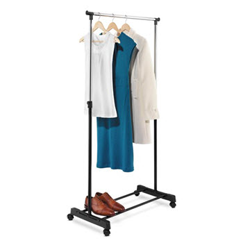 Honey-Can-Do Adjustable Height Garment Rack Chrome/Black