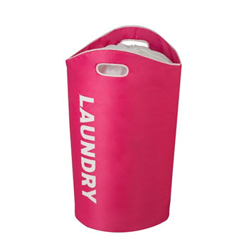 Honey-Can-Do Pink Laundry Tote