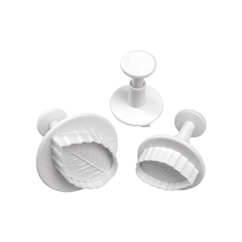 Mondo 3 Piece Rose Leaf Fondant Cutter Set
