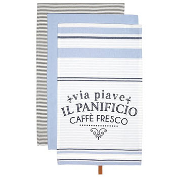 Ladelle Caffe Fresco Pack of 3 Assorted Kitchen Towel