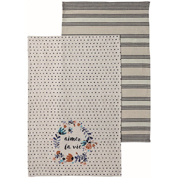 Ladelle Aimer La Vie Kitchen Towel Set of 2