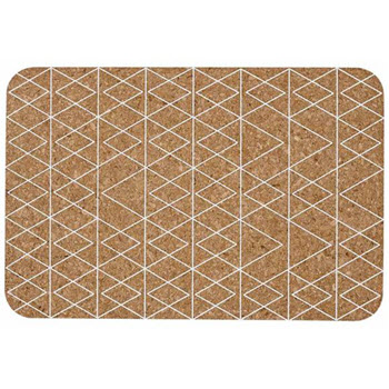Ladelle Mali Set of 4 Cork Placemat White