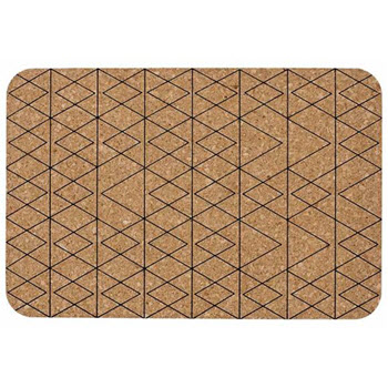 Ladelle Mali Set of 4 Cork Placemat Black