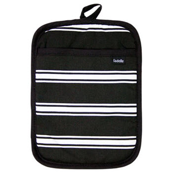 Ladelle Black Butcher Stripe Pot Holder