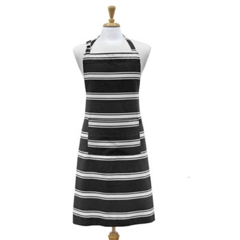 Ladelle Black Butcher Stripe Apron