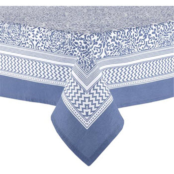 Ladelle Wallpaper 2.25m Tablecloth Blue