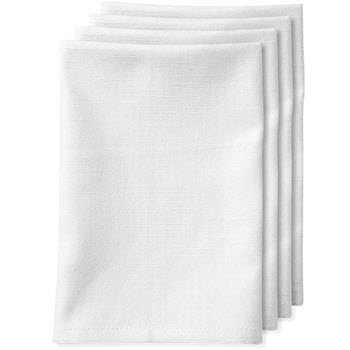 Ladelle Base 4 Pack Napkin White