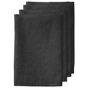 Ladelle Base 4 Pack Napkin Black