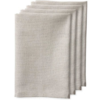Ladelle Base 4 Pack Napkin Taupe