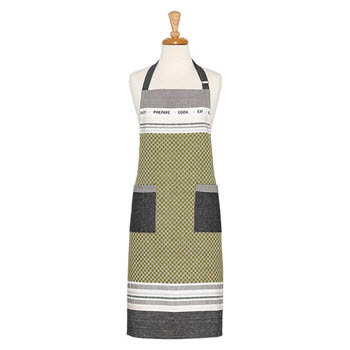 Ladelle Oliver Cotton Apron 70 x 89cm Green & Grey