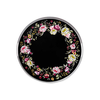 Ashdene Ebony Rose Large Round Tray