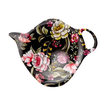Ashdene Ebony Rose Tea Bag Holder