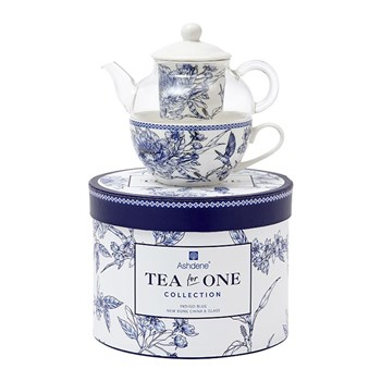 Ashdene Indigo Blue Hummingbird New Bone China Tea for One 280ml/220ml