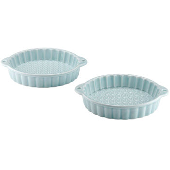 Ladelle Bake Set of 2 Mini Tart Dish Turquoise