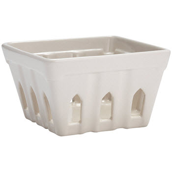 Ladelle Breakfast Table White Basket
