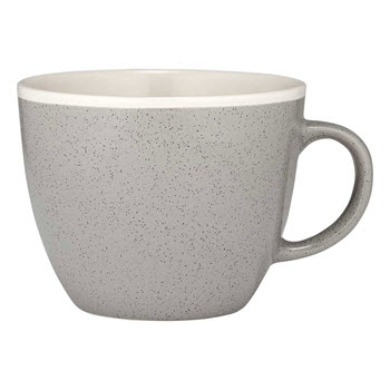 Ladelle Geva Stoneware 4 Piece Mug Set 350ml Grey Speckle