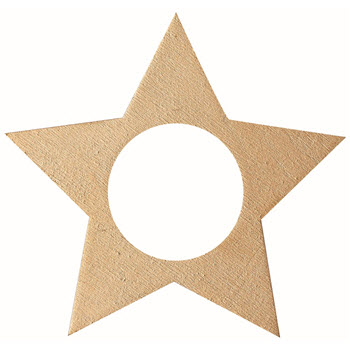 Ladelle Cutie Christmas Star Gold Napkin Ring Set of 6