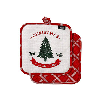 Ladelle Christmas Tradition 2pk Pot Holder