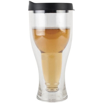 Porta-Brew Black Portable Double Wall Beer Tumbler with Lid