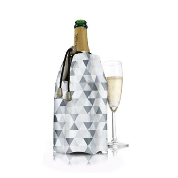 Vacu Vin Active Champagne Cooler Sleeve Diamond Grey