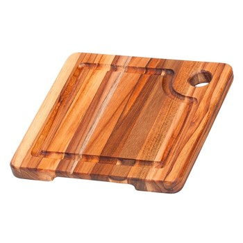 Teak Haus Edge Marine Teak Chopping Board 20 x 20 x 1.9cm Brown