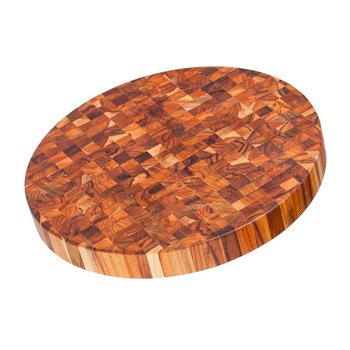 Teak Haus End Grain Teak Chopping Board 45 x 45 x 5cm
