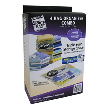Original Space Bag Vacuum Storage Bags 4 Bags Combo