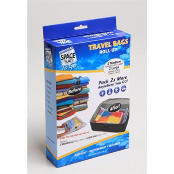 Original Space Bag Vacuum Storage Bags (2L & 2M) 4 Travel Bags