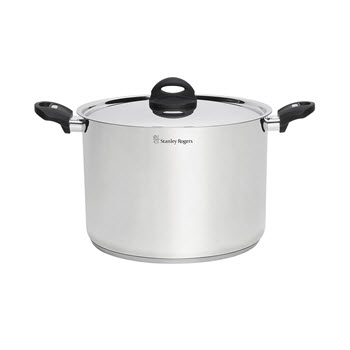 Stanley Rogers Industion Compatible Stainless Steel Stock Pot 12L/28cm