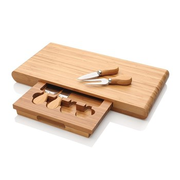 Stanley Rogers Bamboo 5 Piece Cheese Knife & Board Set 40 x 21cm