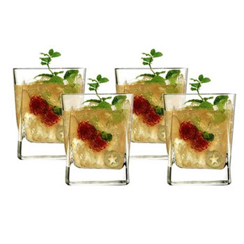 Luigi Bormioli Alfieri 345ml Double Old Fashion Tumbler Set of 4