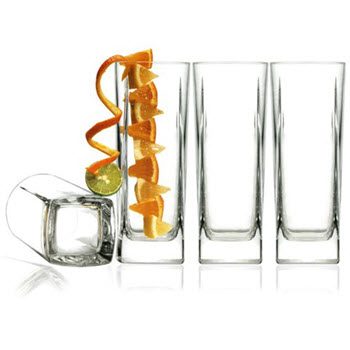 Luigi Bormioli Alfieri 420ml Hi Ball Glass Set of 4
